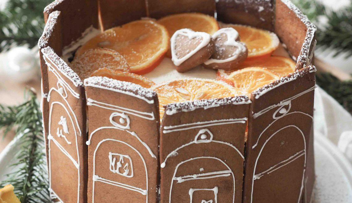 Rezept I weihnachtliche Lebkuchentorte mit Orangen