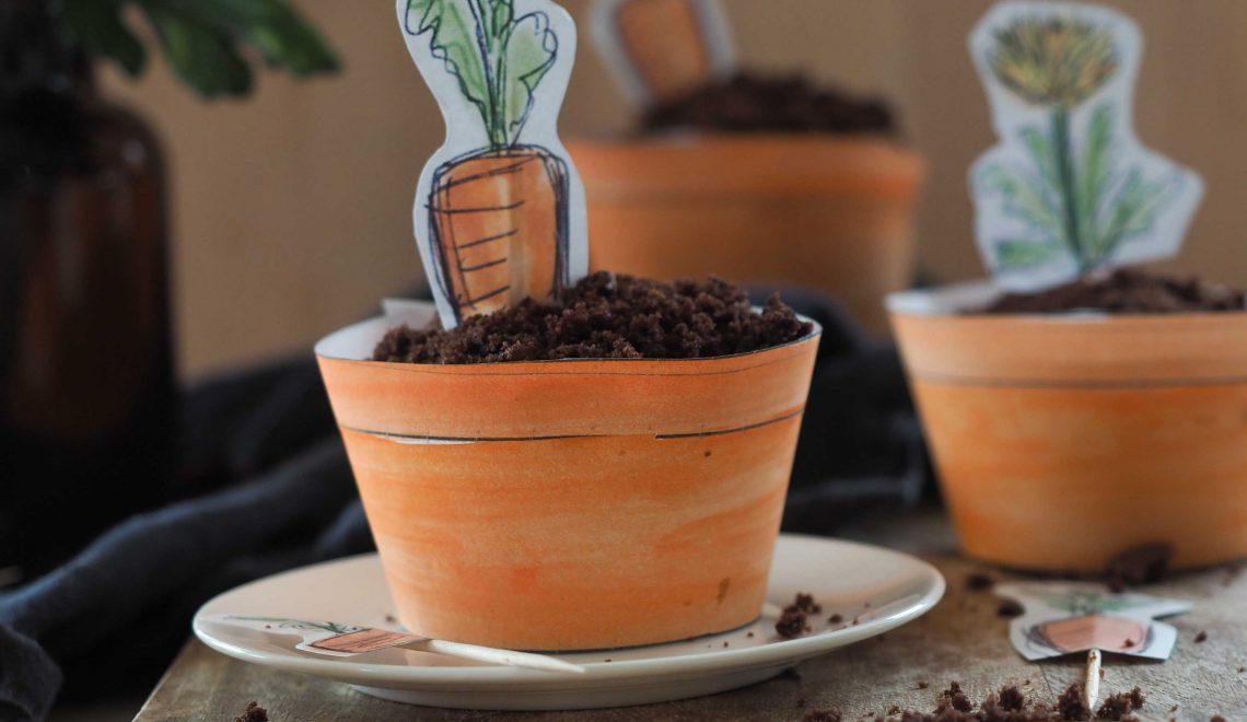 Rezept I Schokocupcakes im Blumentopf