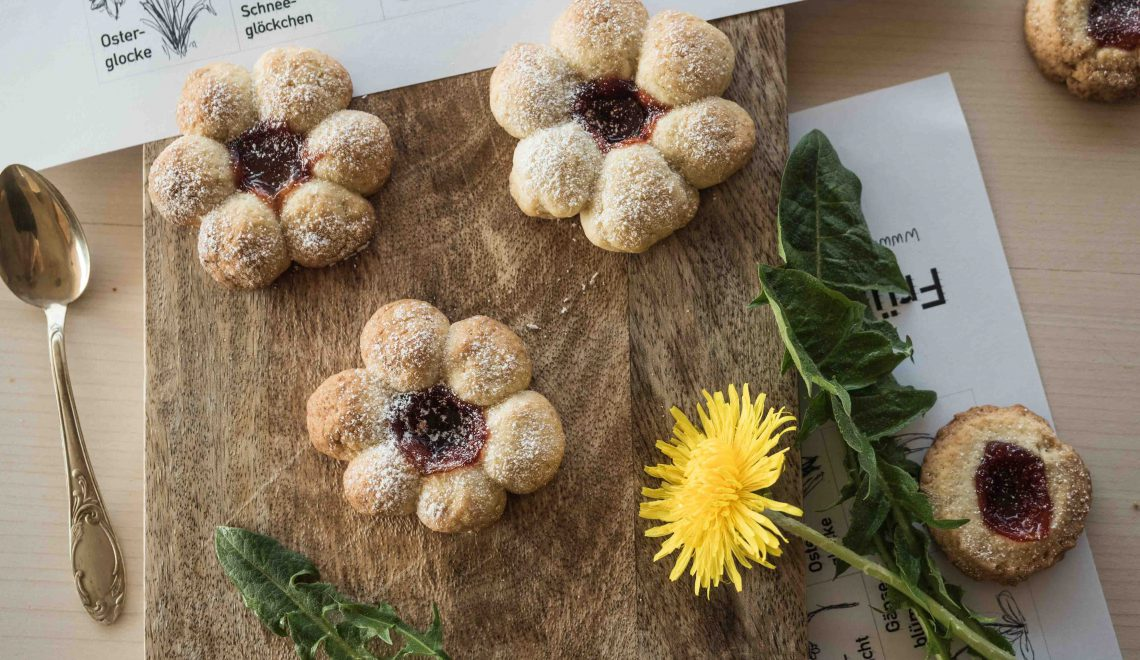 Rezept I Blumenkekse mit Marmelade